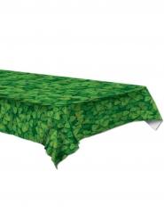Tovaglia in plastica verde con trifogli 137 x 274 cm