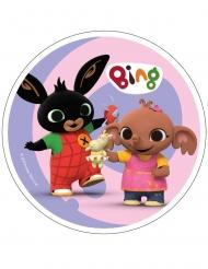 Disco di ostia rosa Bing™ 21 cm