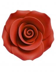 6 rose rosse decorative in zucchero 5 cm