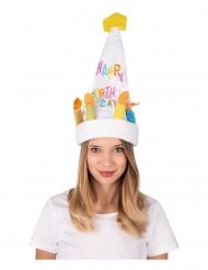 Cappello musicale danzante a forma di torta per adulto