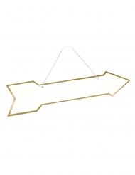 Freccia segnaletica in cartone color oro