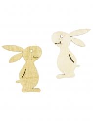 6 coriandoli in legno coniglietto