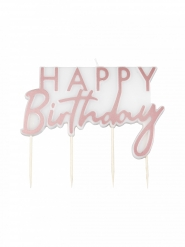 Candela Happy Birthday oro rosa
