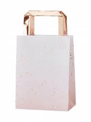 5 sacchetti di carta rosa sfumato e oro rosa