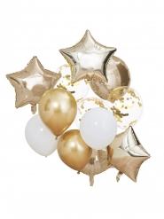 Mix 12 palloncini bianchi e oro