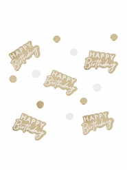 Coriandoli in cartone Happy Birthday oro