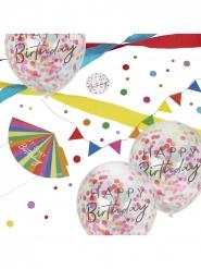 Kit di decorazioni colorate per compleanno