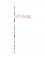 16 cannucce in cartone oro rosa vegetale