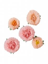 5 fiori decorativi di carta