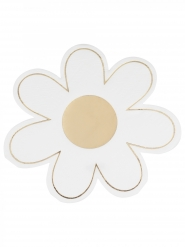 16 tovaglioli di carta margherite bianche e oro