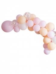 Kit arco da 60 palloncini pastello con coriandoli