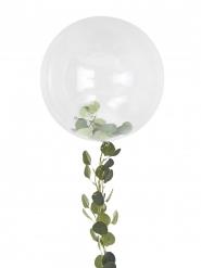 Palloncino sfera trasparente con ghirlande di foglie