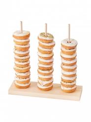 Espositore di ciambelline verticale in legno