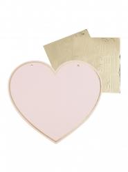 4 pannelli cuore da personalizzare con adesivi