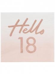 16 tovaglioli di carta oro rosa 18 anni
