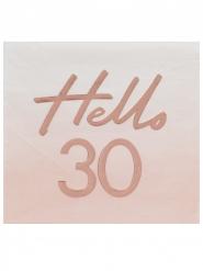 16 tovaglioli di carta oro rosa 30 anni