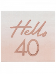 16 tovaglioli di carta oro rosa 40 anni