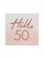 16 tovaglioli di carta oro rosa 50 anni