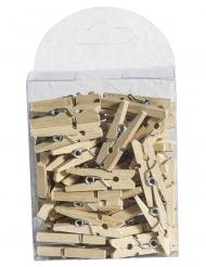 50 mini mollette di legno
