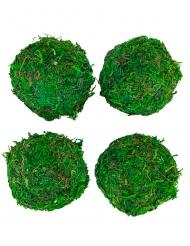 4 sfere di finta erba