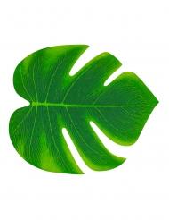 4 foglie tropicali in plastica verde