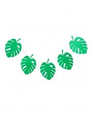 Ghirlanda di 10 foglie tropicali verdi