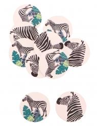 12 coriandoli adesivi zebre