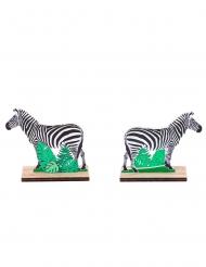 Centrotavola in legno zebra