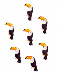 12 coriandoli in legno adesivi tucano