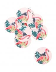 12 coriandoli adesivi fenicotteri tropicali