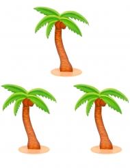 3 decorazioni in legno palme 9 cm