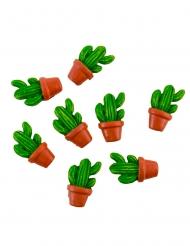 8 cactus con vaso adesivi