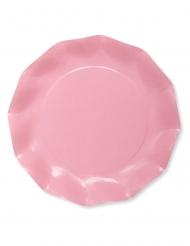 8 piatti in cartone compostabile rosa 27 cm