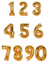 Palloncino alluminio numero color oro 134 cm