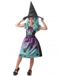 Costume da strega blu per bambina