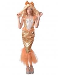 Costume da sirena arancione per bambina