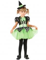 Costume da streghetta verde per bambina