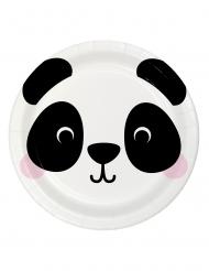 8 piatti in cartone piccolo panda 23 cm