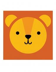 16 tovaglioli di carta piccolo leone