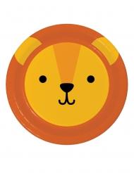 8 piatti in cartone piccolo leone 23 cm