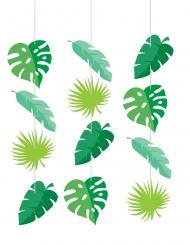 3 sospensioni in cartone foglie tropicali