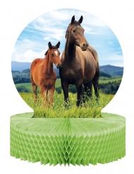 Centrotavola in carta alveolata cavalli