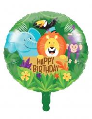 Palloncino alluminio Happy Birthday safari