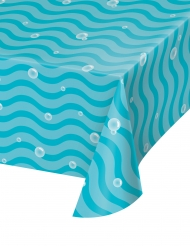 Tovaglia in plastica onde blu