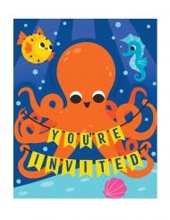 8 inviti per festa oceano colorato