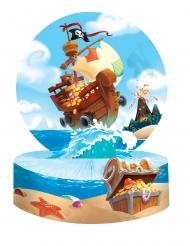 Centrotavola di carta tesoro dei pirati