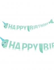 Ghirlanda color menta Happy Birthday Narval