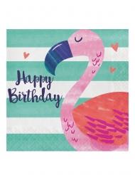 16 tovaglioli di carta Flamingo Ananas Party