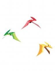 3 sospensioni in cartone dinosauri colorati
