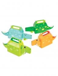 4 scatole regalo dinosauri colorati